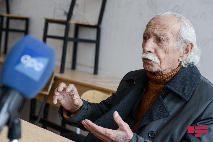 """Xalq rəssamı: """"Babəkin heykəlinin başına açılmayan oyun qalmadı"""" - Müsahibə"""